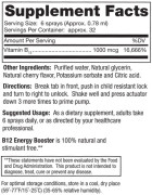 Dr. Mercola's Vitamin B-12 Spray (Energy Booster) • Ingredients • Mile High Vitamins