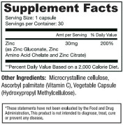 Dr. Mercola's Zinc Formula (30 Capsules) • Ingredients • Mile High Vitamins