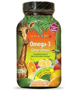 Irwin Kids Omega-3 Citrus Chews (30 Soft-Chews) • Mile High Vitamins