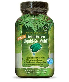 Irwin Naturals Living Green Liquid-Gel Multi for Men (90 Soft-Gels) • Mile High Vitamins