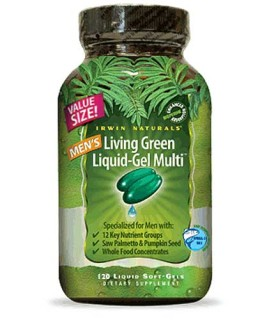 Irwin Naturals Living Green Liquid-Gel Multi for Men (120 Soft-Gels) • Mile High Vitamins