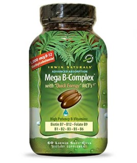 Irwin Naturals Mega B-Complex (60 Soft-Gels) • Mile High Vitamins