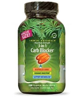 Irwin Naturals Maximum Strength 3-in-1 Carb Blocker (150 Soft-Gels) • Mile High Vitamins