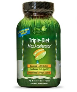 Irwin Naturals Triple-Diet (Max Accelerator) (72 Soft-Gels) • Mile High Vitamins