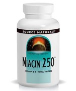 Source Naturals Niacin 250 (Vitamin B-3) (Timed Release) (250mg) (100 Tablets) • Mile High Vitamins
