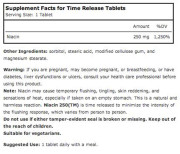 Source Naturals Niacin 250 (Vitamin B-3) (Timed Release) (250mg) (100 Tablets) • Ingredients • Mile High Vitamins