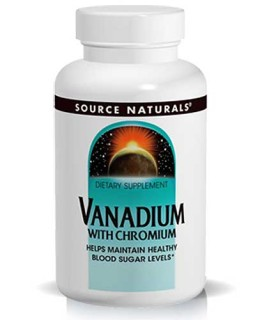 Source Naturals Vanadium with Chromium (Healthy Blood Sugar) (180 Tablets) • Mile High Vitamins